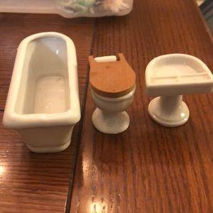 Vintage porcelain made in Japan dollhouse set
